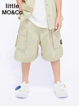 trousers Little MO&CO. male 110/53 120/56 130/59 140/60 150/63 160/66 Madeleine apricot black summer shorts Europe and America There are models in the real shooting Overalls Leather belt middle-waisted Pure cotton (100% content) Don't open the crotch Cotton 100% KBA2SOT001 Summer 2021 Guangzhou City