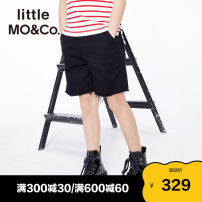 trousers Little MO&CO. female 110/53 120/53 130/56 140/58 150/61 155/64 Denim black spring and autumn shorts Europe and America There are models in the real shooting Jeans Leather belt middle-waisted Don't open the crotch Cotton 81.2% Lyocell fiber (Lyocell) 18.8% KBA1SOT007 Class B Spring 2021
