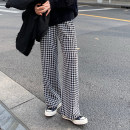 Casual pants Black and white, grey black Average size Spring 2021 trousers Wide leg pants High waist commute 18-24 years old 30% and below other Korean version