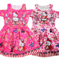 Dress Pink Rose Other / other female 100cm 110cm 120cm 130cm 140cm Polyester 65% other 35% spring and autumn Europe and America Cartoon animation one thousand one hundred and fifteen