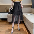 skirt Spring 2020 Average size Black white apricot Mid length dress commute High waist Cake skirt Solid color Type A 18-24 years old 951h-2 other Hooyiu / Huoyu fungus Korean version Pure e-commerce (online only)