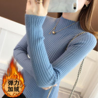sweater Winter of 2019 S M L XL Blue yellow green white black red light coffee grey [cashmere blue] [cashmere yellow] [cashmere light coffee] [cashmere grey] [cashmere green] [cashmere white] [black.] [cashmere red] [Cashmere Black] Long sleeves Socket singleton  Regular other 95% and above Regular