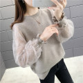 Wool knitwear Autumn of 2019 S M L XL Long sleeves singleton  Socket other More than 95% Regular thickening commute easy bishop sleeve Solid color Socket Korean version 25-29 years old Beautiful appearance Splicing Other 100% Pure e-commerce (online only)