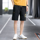 Casual pants Language gram Youth fashion thin Capris easy Other leisure Micro bullet 6602-700 summer youth tide 2021 Medium low back Straight tube Polyester 100% Overalls Arrest line Non iron treatment Solid color plain cloth polyester fiber Summer 2021 Pure e-commerce (online sales only) Grey black
