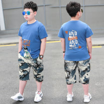 suit Summer fun 140cm 150cm 160cm 170cm 180cm male summer leisure time Short sleeve + pants 2 pieces Thin money There are models in the real shooting Socket nothing other cotton children Shopping &1356989 Class B Other 100% Spring 2021 Chinese Mainland Zhejiang Province Hangzhou