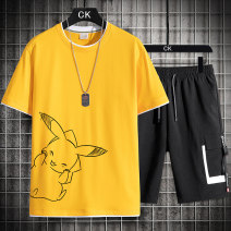 T-shirt Youth fashion thin M L XL 2XL 3XL 4XL Guest speech Short sleeve Crew neck easy Other leisure summer TZ 9167 Cotton 100% teenagers routine tide Cotton wool Summer 2021 Cartoon animation printing cotton Creative interest No iron treatment Pure e-commerce (online only) More than 95%