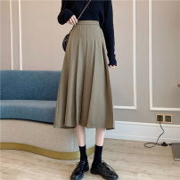 Women's large Spring 2021, summer 2021 Black, coffee S. M, l (recommended 100-120 kg), XL (recommended 120-140 kg), 2XL (140-160 kg recommended), 3XL (160-180 kg recommended), 4XL (180-200 kg recommended), to ensure that the real object is consistent with the picture skirt singleton  commute easy