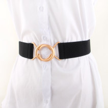 Belt / belt / chain other Black, camel, red, white female Waistband Versatile Single loop Youth, youth, middle age Double buckle Glossy surface soft surface 4cm alloy Naked, elastic