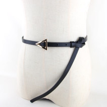 Belt / belt / chain Pu (artificial leather) Black, camel, white female belt Versatile Single loop Youth, youth, middle age Pin buckle Glossy surface Glossy surface 1cm alloy alone 118cm