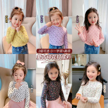 T-shirt luson 80, 90, 100, 110, 120, 130, 140 female spring leisure time cotton Broken flowers GYC1102 12 months, 18 months, 2 years old, 3 years old, 4 years old, 5 years old, 6 years old, 7 years old