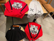 suit Other / other Cardigan, pants, skirt, cardigan + grey pants, cardigan + skirt 100cm,110cm,120cm,130cm,140cm,150cm routine Socket Cartoon animation cotton 3 years old