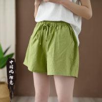Casual pants Average size Summer 2021 shorts K-18 hemp cotton