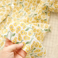Fabric / fabric / handmade DIY fabric cotton Loose shear piece Plants and flowers printing and dyeing clothing Japan and South Korea Jujialiangpin 100% 14 bubble yellow flower Liaoning Province Shenyang City Chinese Mainland