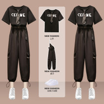 Women's large Summer 2021 Picture color suit Large L (recommended weight 100-120 kg) Large XL (recommended weight 120-140 kg) large 2XL (recommended weight 140-160 kg) large 3XL (recommended weight 160-180 kg) large 4XL (recommended weight 180-200 kg) Other oversize styles Two piece set commute easy