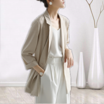 short coat Spring 2021 S,M,L,XL Flax rice Long sleeves routine easy commute routine Solid color Shun er 81% (inclusive) - 90% (inclusive) EGFIW82715 other