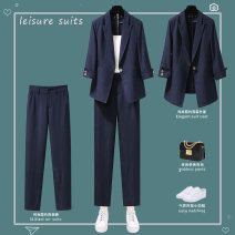 Fashion suit Spring 2021 S M L XL 2XL 3XL 4XL 25-35 years old Lungge Polyester 100% Pure e-commerce (online only)