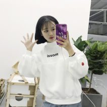 Women's large Autumn of 2019 White yellow S M L XL XXL Sweater / sweater singleton  commute easy thick Socket Long sleeves Shape letter Crew neck routine Polyester cotton printing and dyeing routine Xianwan Poetry 18-24 years old Embroidery 31% (inclusive) - 50% (inclusive) Other 100%