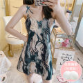 Nightdress Other / other M,L,XL,XXL Sweet camisole pajamas Middle-skirt summer Cartoon animation youth V-neck printing More than 95%