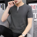 T-shirt Youth fashion thin M,L,XL,2XL,3XL,4XL Others Short sleeve V-neck Self cultivation daily summer T135 Cotton 95% polyurethane elastic fiber (spandex) 5% youth routine tide 2020 Solid color cotton No iron treatment Non brand 90% (inclusive) - 95% (inclusive)