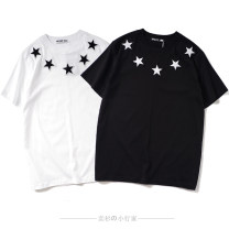 T-shirt Youth fashion Black, white, black, red star routine S,M,L,XL,2XL Western snails Short sleeve Crew neck easy daily autumn Couples dress routine Simplicity in Europe and America other 2019 Geometric pattern Assembly cotton Geometric pattern Fashion brand More than 95%