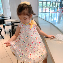 Dress Butterfly color (pre sold around April 26) female Xiaomu 1 (for 80cm), 2 (for 90cm), 3 (for 100cm), 4 (for 110cm), 5 (for 120cm), 6 (for 130cm) Cotton 90% other 10% summer Korean version Skirt / vest other other A-line skirt Chinese Mainland