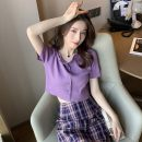 Wool knitwear Summer 2020 Average size White, purple, red, blue, yellow, black, 616 sling color random hair Short sleeve singleton  Cardigan cotton 81% (inclusive) - 90% (inclusive) have cash less than that is registered in the accounts routine commute Self cultivation routine Korean version