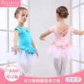 Children's performance clothes Pink, violet, lake blue female 120cm,130cm,140cm,150cm,160cm,170cm Ruilaibao Class B A cross white plain sleeve at the back 5025 practice Cotton 94% polyurethane elastic fiber (spandex) 6% other