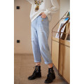 Jeans Spring 2020 blue S,M,L,XL trousers High waist Straight pants routine 18-24 years old Cotton denim light colour 96% and above