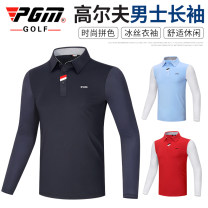 Golf apparel Yf414 Navy top, yf414 white top, yf414 light blue top, yf414 red top M,L,XL,XXL male PGM Long sleeve T-shirt YF414