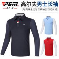 Golf apparel Yf414 Navy top, yf414 white top, yf414 light blue top, yf414 red top M,L,XL,XXL male PGM Long sleeve T-shirt YF414