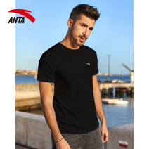 Sports T-shirt Anta XS S M L XL 2XL 3XL 4XL Short sleeve male Crew neck routine Moisture absorption and perspiration, quick drying, ultra light and breathable Summer 2021 Brand logo pattern Sports & Leisure Sports life polyester fiber yes