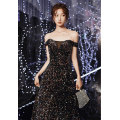 Dress / evening wear Wedding party company annual meeting performance date XS S M L XL XXL Picture color bf-1342-3 Korean version longuette middle-waisted Autumn 2020 fish tail One shoulder zipper 18-25 years old YWR20081 Short sleeve Nail bead Solid color Yuwanru routine Other 100% other Sequins