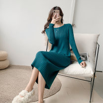 Lace / Chiffon Winter 2020 Black apricot Turquoise S M L Long sleeves commute Self cultivation Medium length Crew neck Solid color routine 18-24 years old Qingchuan zpKVf Korean version Other 100% Pure e-commerce (online only)