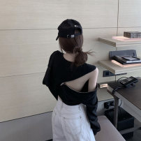 Lace / Chiffon Autumn 2020 White black S M L Long sleeves commute easy have cash less than that is registered in the accounts Crew neck routine 18-24 years old Qingchuan HnpDY zipper Korean version Other 100% Pure e-commerce (online only)