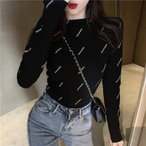 Lace / Chiffon Spring 2020 White black S M L Long sleeves commute Socket singleton  Self cultivation Regular Crew neck routine Qingchuan qc116 Korean version Other 100% Pure e-commerce (online only)