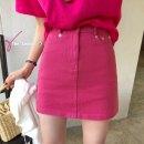 skirt Summer 2021 S,M,L Short skirt commute Natural waist Denim skirt Solid color Type A 18-24 years old 51% (inclusive) - 70% (inclusive) Denim Other / other other pocket Korean version 401g / m ^ 2 (inclusive) - 500g / m ^ 2 (inclusive)