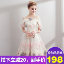 Dress / evening wear White word shoulder Adult ceremony party company annual performance daily appointment SMLXLXXL custom size, consulting customer service Shoulder Spring 2018 Tutu RX1816 Short skirt princess Bandages Middle waist 18-25 years old sleeveless Pure color other Flowers other