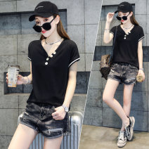 T-shirt White black S M L XL Summer 2021 Short sleeve V-neck Self cultivation Regular routine commute other 96% and above 25-29 years old Korean version originality Solid color 72 changes / 72 transformer MZ106 Other 100% Pure e-commerce (online only)
