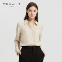 shirt White sand 155/80A 160/84A 165/88A 170/92A Autumn of 2018 silk 96% and above Long sleeves commute Regular stand collar routine other 25-29 years old Straight cylinder Me&City Ol style fold Mulberry silk 100.00% Same model in shopping mall (sold online and offline)