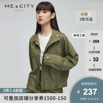 short coat Autumn 2020 155/80A 160/84A 165/88A 170/92A Sand yellow Beige seaweed green Long sleeves routine routine singleton  Straight cylinder street routine stand collar Single breasted Solid color 25-29 years old Me&City 96% and above cotton cotton Cotton 100%