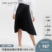 skirt Autumn of 2019 155/62A 155/64A 160/66A 160/68A 165/72A Black Mid length dress Natural waist Irregular Solid color Type H 25-29 years old More than 95% Me&City polyester fiber Polyester 100% Same model in shopping mall (sold online and offline)