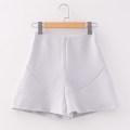Casual pants light gray S/160,M/165,L/170 Autumn 2020 shorts High waist