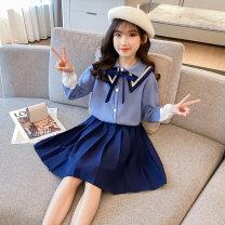 Fashion suit Autumn 2020 110CM,120CM,130CM,140CM,150CM,160CM,170CM Blue, gray Under 17 NTXFG 96% and above