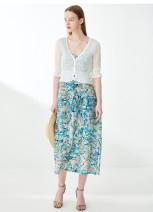 Dress Summer 2021 blue S,M,L,XL,2XL Mid length dress Two piece set elbow sleeve V-neck Decor Socket Irregular skirt 30-34 years old Type X Psalter / poem 6C51205740 other