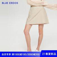 skirt Spring 2021 155/60A/XS 160/64A/S 170/72A/L 165/68A/M 175/76A/XL khaki Short skirt Versatile Natural waist A-line skirt Solid color Type A 25-29 years old B215M0067 More than 95% other blue erdos cotton pocket Cotton 100% Same model in shopping mall (sold online and offline)