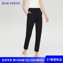 Casual pants black 155/60A/XS 160/64A/S 165/68A/M 170/72A/L 175/76A/XL Spring 2021 Ninth pants Pencil pants Natural waist commute Thin money 25-29 years old 91% (inclusive) - 95% (inclusive) B215M1039 blue erdos wool Simplicity wool Wool 91% polyester 5% polyurethane elastic fiber (spandex) 4%