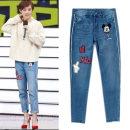 Jeans Winter 2020 blue Ninth pants Natural waist loose  light colour
