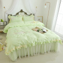 Bedding Set / four piece set / multi piece set cotton Embroidery Plants and flowers 133X76 Respect and love cotton 4 pieces 40 1.2m (4 ft) bed, 1.5m (5 ft) bed, 1.8m (6 ft) bed, 2.0m (6.6 ft) bed, 2.2m (7 ft) bed Bed skirt Superior products Princess style 100% cotton twill Reactive Print