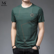 T-shirt Business gentleman White, green, black, blue thin 165 / m for 110-120 kg, 170 / L for 120-140 kg, 175 / XL for 140-155 kg, 180 / 2XL for 155-170 kg, 185 / 3XL for 170-185 kg, 190 / 4XL for 185-200 kg Others Short sleeve Crew neck Self cultivation daily summer routine Business Casual 2021