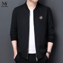 Jacket S.F Marceau Fashion City 8886 black, 8886 camel, 8886 red, 8868 red, 8868 gray, 8868 yellow 165/M,170/L,175/XL,180/XXL,185/XXXL,190/4XL routine easy Other leisure autumn Long sleeves Wear out stand collar Business Casual middle age routine Zipper placket 2021 Straight hem washing stripe other